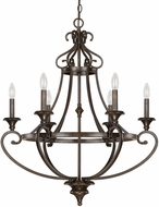 Capital Lighting 4536CB-000 Maxwell Chesterfield Brown Chandelier Lighting