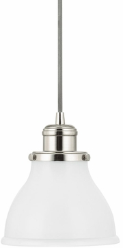 Capital Lighting 4551PN-128 Baxter Polished Nickel Mini Pendant Hanging Light