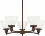 Capital Lighting 4555BB-128 Baxter Burnished Bronze Lighting Chandelier