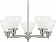 Capital Lighting 4555BN-128 Baxter Brushed Nickel Chandelier Lamp