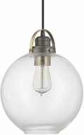 Capital Lighting 4641GA-136 Graphite With Aged Brass Mini Hanging Lamp