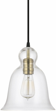 Capital Lighting 4642AD-137 Aged Brass Mini Pendant Light Fixture