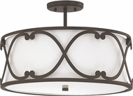 Capital Lighting 4743BB-610 Alexander Burnished Bronze Semi-Flush Overhead Lighting