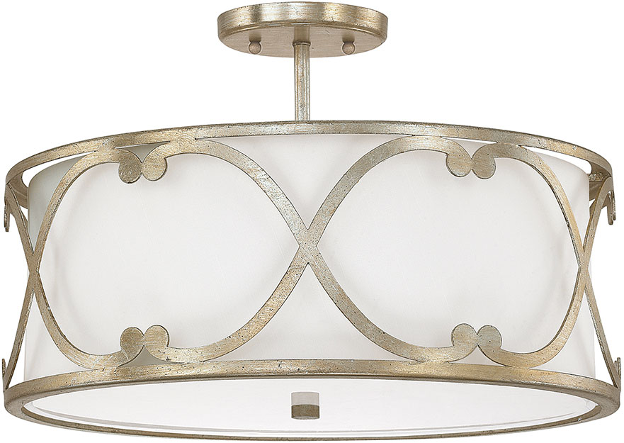 Capital Lighting 4743wg 610 Alexander Winter Gold Semi Flush Mount Light Fixture Loading Zoom