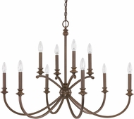 Capital Lighting 4747BB-000 Alexander Burnished Bronze Lighting Chandelier