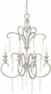 Capital Lighting 4784AS-000 Celine Antique Silver Mini Ceiling Chandelier