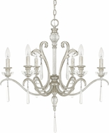 Capital Lighting 4786AS-000 Celine Antique Silver Hanging Chandelier