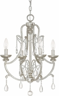 Capital Lighting 4801AS-CR Capital Chandelier Traditional Antique Silver Mini Chandelier Lighting