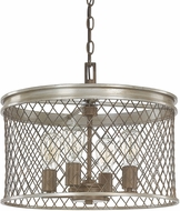 Capital Lighting 4884SZ Eastman Modern Silver and Bronze Lighting Pendant
