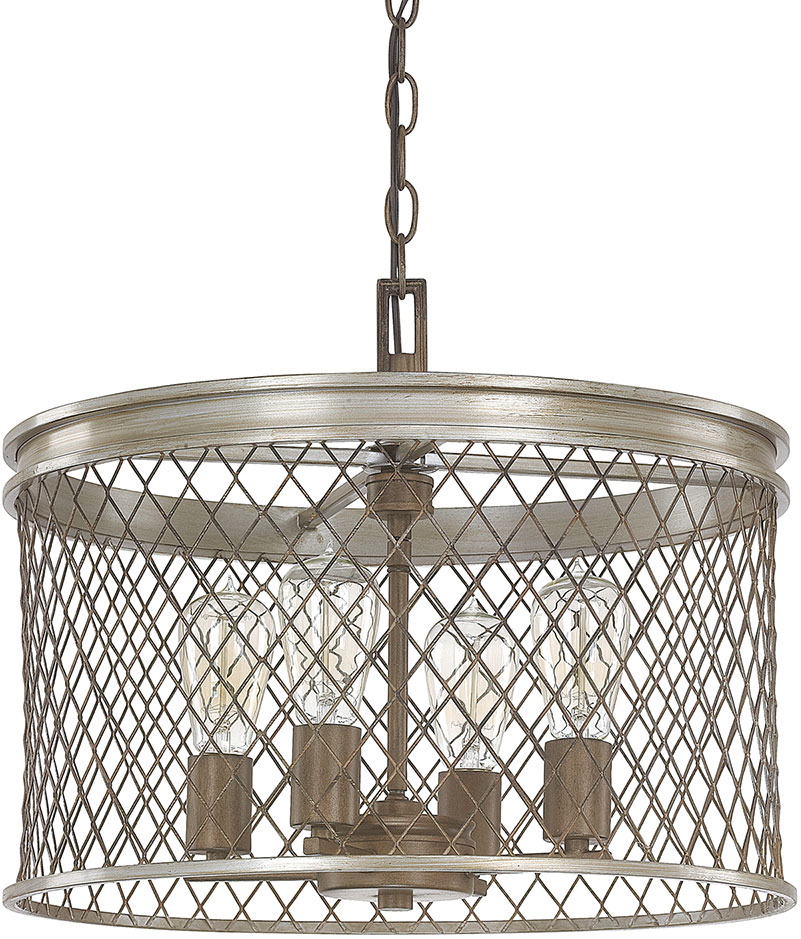 Capital Lighting 4884SZ Eastman Modern Silver And Bronze Lighting Pendant.  Loading Zoom