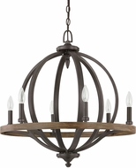 Capital Lighting 4906IA Brayden Contemporary Iron and Oak Pendant Lighting Fixture
