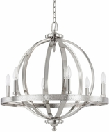 Capital Lighting 4906PN Brayden Modern Polished Nickel Hanging Pendant Lighting