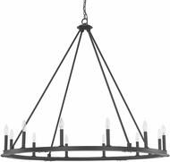 Capital Lighting 4912BI-000 Pearson Modern Black Iron Hanging Chandelier