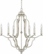 Capital Lighting 4946AS-000 Blair Contemporary Antique Silver Ceiling Chandelier