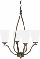 Capital Lighting 4954BB-122 Braxton Contemporary Burnished Bronze Mini Chandelier Light