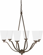 Capital Lighting 4956BB-122 Braxton Contemporary Burnished Bronze Lighting Chandelier