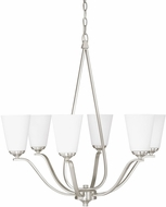 Capital Lighting 4956BN-122 Braxton Modern Brushed Nickel Chandelier Lamp