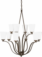 Capital Lighting 4959BB-122 Braxton Contemporary Burnished Bronze Chandelier Light