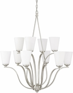 Capital Lighting 4959BN-122 Braxton Modern Brushed Nickel Ceiling Chandelier