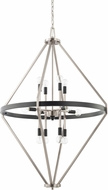 Capital Lighting 525201BT Tux Contemporary Black Tie Foyer Light Fixture