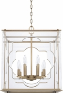 Capital Lighting 525681AD Contemporary Aged Brass Foyer Light Fixture