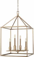 Capital Lighting 527541AD Lyra Contemporary Aged Brass Entryway Light Fixture