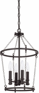 Capital Lighting 528741BI Lancaster Modern Black Iron Foyer Lighting