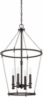 Capital Lighting 528742BI Lancaster Contemporary Black Iron Foyer Light Fixture
