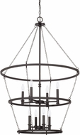 Capital Lighting 528781BI Lancaster Modern Black Iron Foyer Lighting Fixture