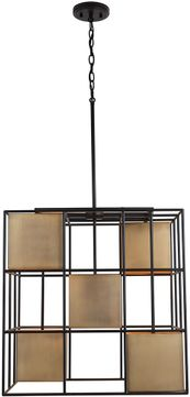 Capital Lighting 530951AB Paxton Contemporary Aged Brass and Black Drop Lighting