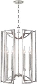 Capital Lighting 532461AS Bryce Contemporary Antique Silver Foyer Light Fixture