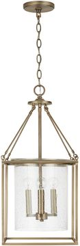 Capital Lighting 532843AD 7 Contemporary Aged Brass Entryway Light Fixture