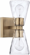 Capital Lighting 627522AD-456 Lyra Modern Aged Brass Wall Sconce