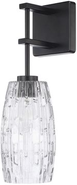Capital Lighting 628611MB-450 Contemporary Matte Black Wall Mounted Lamp