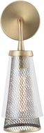 Capital Lighting 632311AD Abbott Contemporary Aged Brass Lighting Wall Sconce