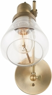Capital Lighting 634812AD-480 Contemporary Aged Brass Wall Light Fixture