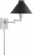 Capital Lighting 638314BT 4 Contemporary Black Tie Wall Swing Arm Lamp