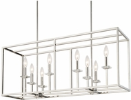 Capital Lighting 7004PN Morgan Contemporary Polished Nickel Island Light Fixture