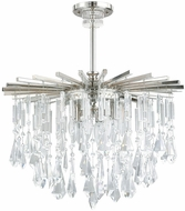 Capital Lighting 7023PN-CR Carrington Polished Nickel Mini Ceiling Chandelier