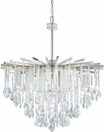 Capital Lighting 7025PN-CR Carrington Polished Nickel Hanging Chandelier