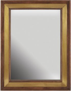 Capital Lighting 730203MM Wood & Brass Wall Mounted Mirror
