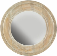 Capital Lighting 730205MM White Washed Wood with Gold Leaf Wall Mirror