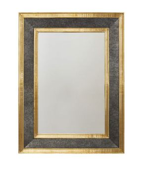 Capital Lighting 734004MM Galvanized Black & True Brass Wall Mounted Mirror