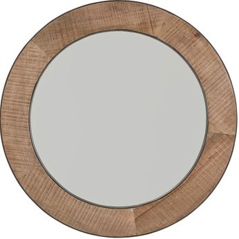 Capital Lighting 735405MM Natural Rough Sawn Wood with Zinc Metal Mirror