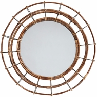 Capital Lighting 735701MM Modern Blazed Rattan & Nordic Grey Mirror