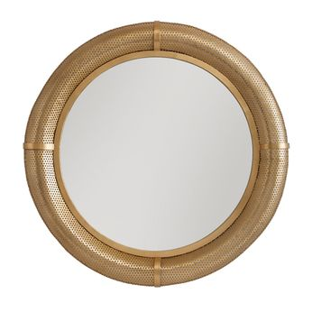 Capital Lighting 736101MM Contemporary Polished Brass Wall Mounted Mirror