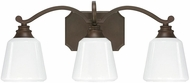 Capital Lighting 8113BB-300 Leigh Burnished Bronze 3-Light Bath Sconce