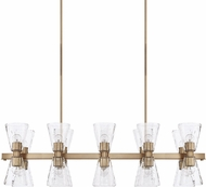 Capital Lighting 827501AD-456 Lyra Modern Aged Brass Kitchen Island Lighting