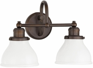 Capital Lighting 8302BB-128 Baxter Burnished Bronze 2-Light Bathroom Light Sconce