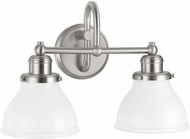 Capital Lighting 8302BN-128 Baxter Brushed Nickel 2-Light Bathroom Lighting Sconce